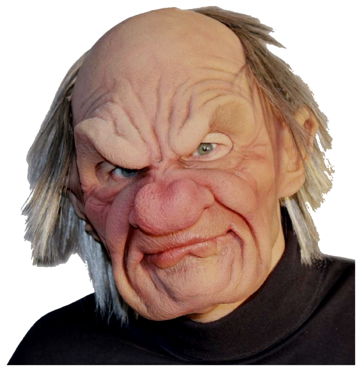 OLD MAN realistic mask moving mouth