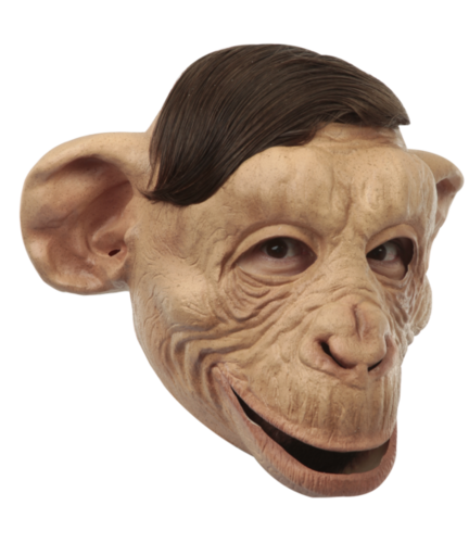 Brown chimp - Ape face mask