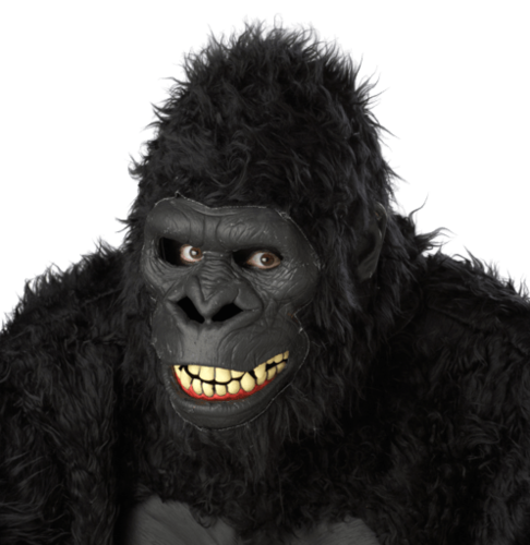 Gorilla going ape Moving mouth mask