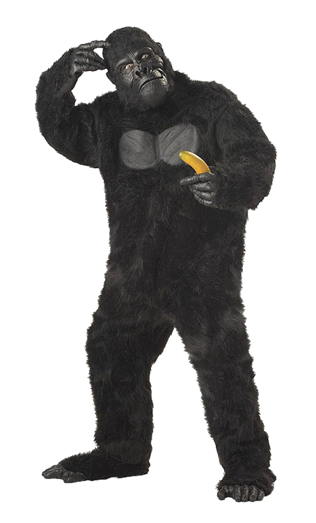 Gorilla / ape costume Includes Gorilla mask Adult