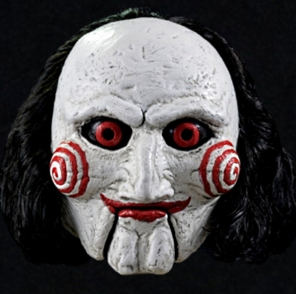 Saw puppet mask  Jigsaw Billy - Super deluxe