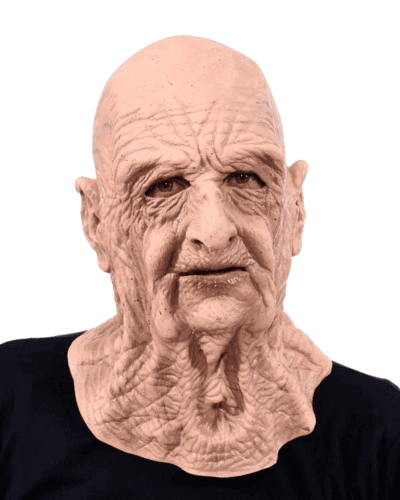 Grandad wrinkly OLD MAN full head and neck latex mask