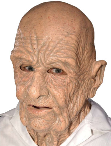 Grandad old man latex mask