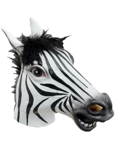 Latex Animal mask - Zebra