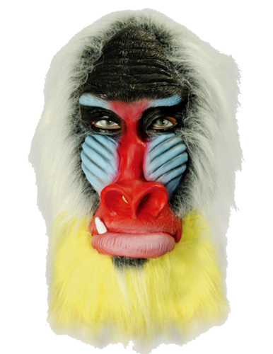Latex Animal mask - Baboon