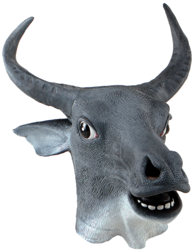 Latex Animal mask - Cow