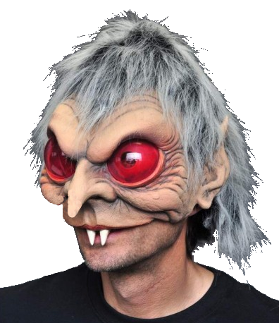 Vampire half head mask - Halloween