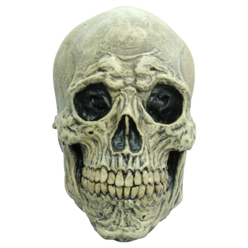 Skull skeleton horror mask - White death
