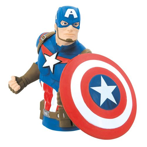 Marvel avengers bust bank captain america money box bank