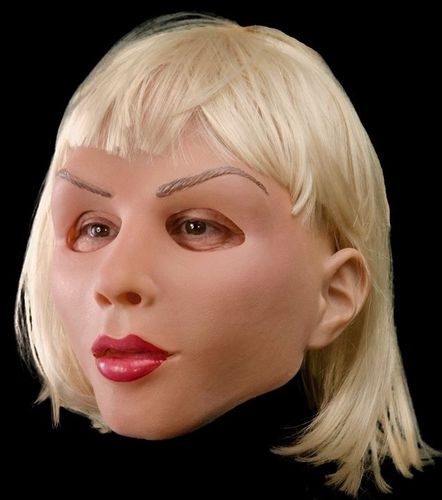 Soft and blonde female mask