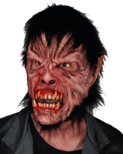 Bloody Man Werewolf horror wolf mask