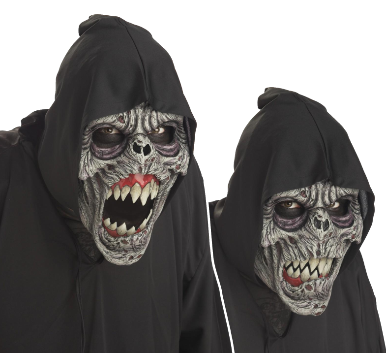Night Fiend Moving mouth horror mask - Halloween