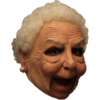 Old lady chin strap horror mask