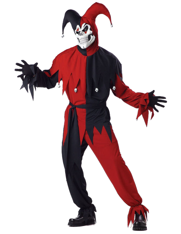 Jester horror costume with mask - Halloween