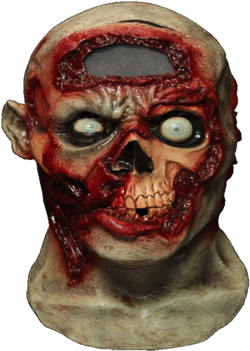 Digital animated Zombie rot horror mask