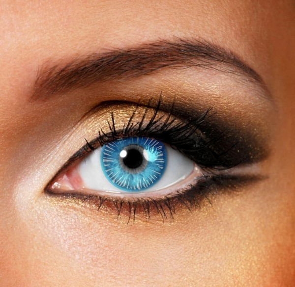Blue contact lens - Pair of lenses for creatures