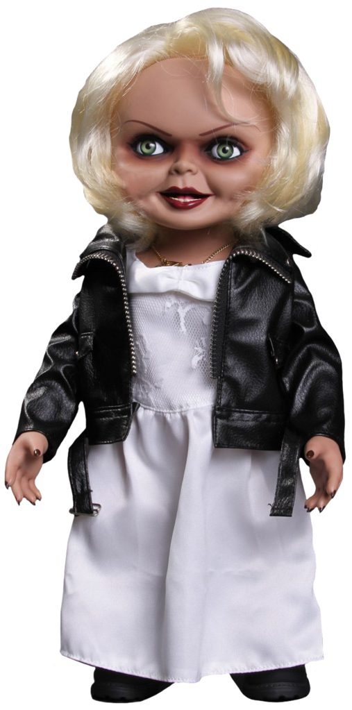 "Tiffany the bride of Chucky stands 15""  tall with sound"
