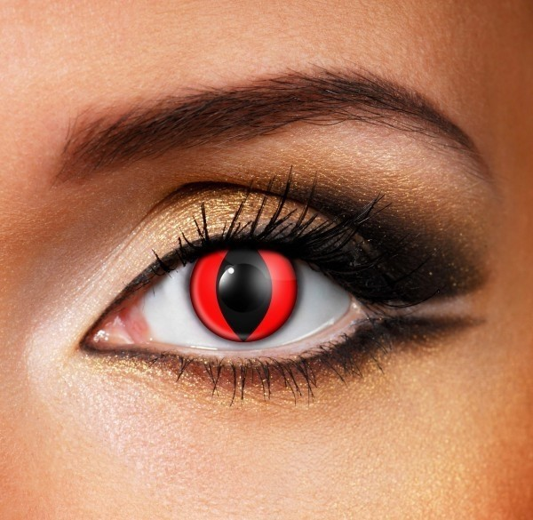 Red wolf Contact Lenses - Pair of lenses for vampire