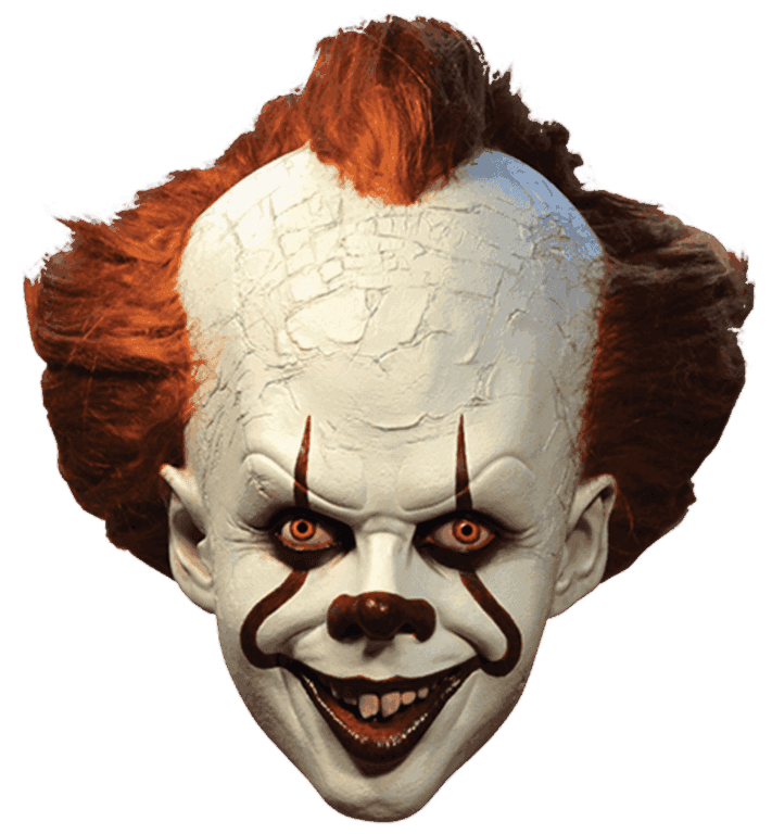 Pennywise the 'IT' Clown mask - Deluxe horror movie mask