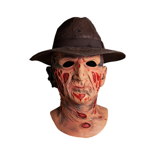 Freddy Krueger Mask deluxe with hat   - Nightmare on elm street