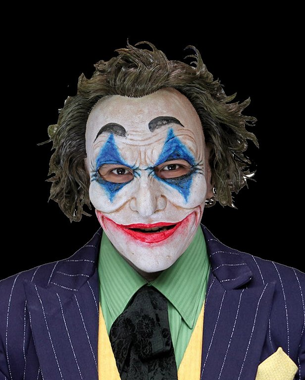 Crazy jack JOKER Realistic fit - Realistic clown Mask