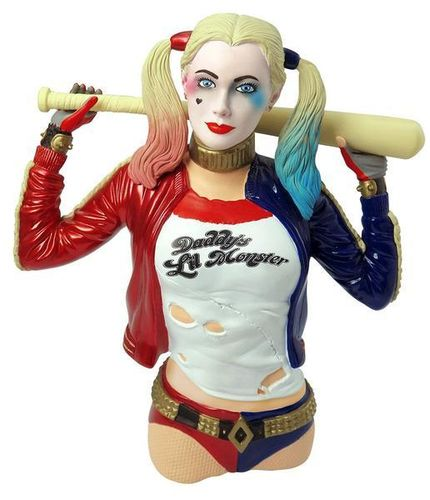 Suicide Squad Harley Quinn bust bank money box