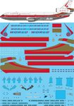 STS44327 World Airways McDonnell Douglas DC-10-30CF Screen printed decal