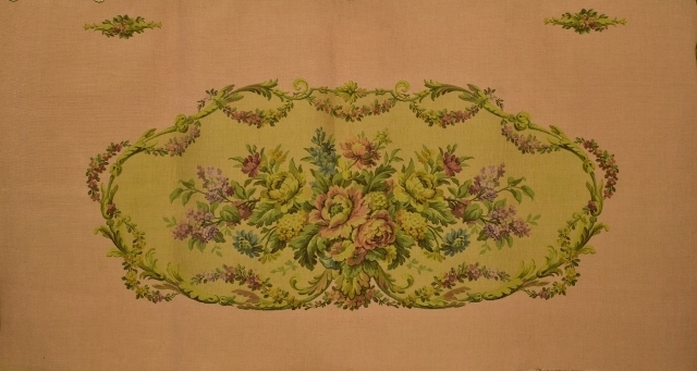 B1054 - Divine Vintage French Floral Tapestry Panel, Seat, Upholstery Project