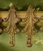 B1370 - Fantastic Set 14 Antique French  Acanthus Leaf Chateau Curtain Rings, 19th Century