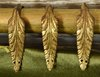 B1372 - Beautiful Set 12 Antique French Gilded Metal Acanthus Leaf Curtain Rings, 19th Century