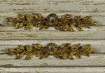 B1387b - Gorgeous PAIR Antique French Gilded Mounts, Bow Crest & Leaf Garland