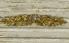 B1388 - Gorgeous Antique French Gilded Mount / Pediment, Bow Crest, Leaf & Bud Garland