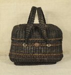 B1416 - Gorgeous Antique French Double Handled Basket / Handbag, Superb Condition, C1920