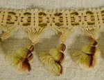 B1417 - 2.7 M Gorgeous Antique French Tasseled Passementerie / Braid / Trim, Unused