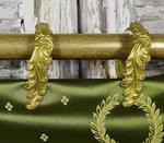 B1431 - Gorgeous SET 12 Antique French Toleware Acanthus Leaf Chateau Curtain Rings