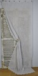 B1435 - Sublime Antique French Fine Muslin, Cornely Lace Long Curtain / Panel 19th C