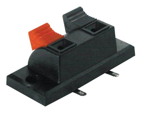 Power supply connector lever action