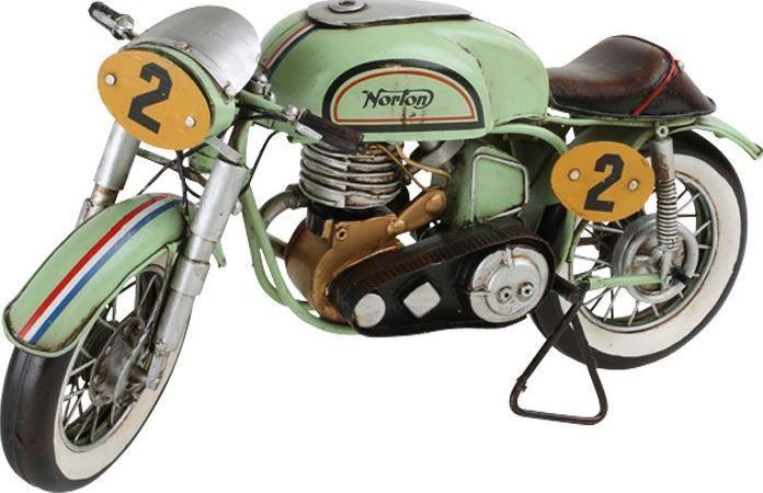 Vintage Decoratie Norton Motorfiets Donk Toyshop