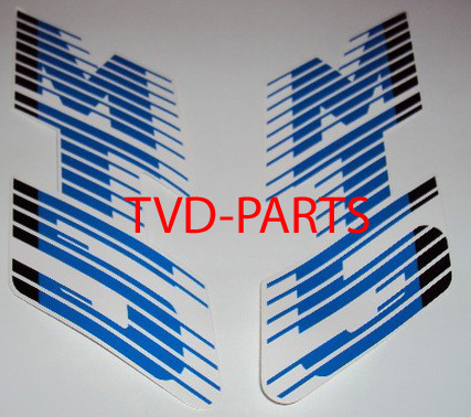 Tank sticker Honda MT white/blue