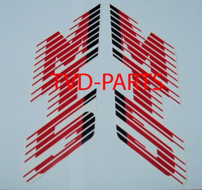 Tank sticker Honda MT white/red (white tank)