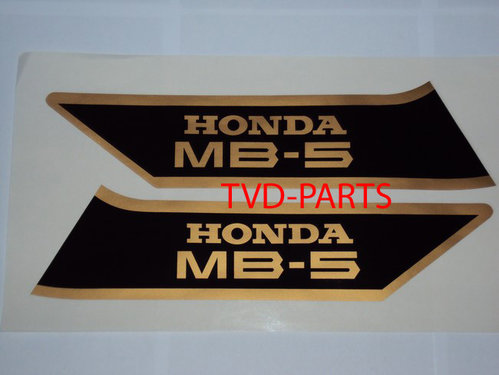 Tank sticker set MB5 black/gold