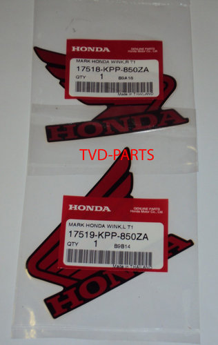 Stickerset Honda wings red/black Honda MB MT MTX NSR MBX