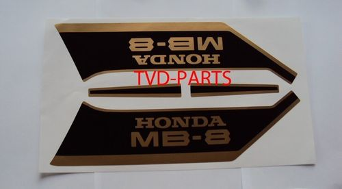 Fuel tank sticker set Honda MB8 MB80 black/gold