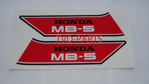 Fuel tank sticker set Honda MB MB5 red/white