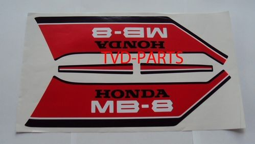 Fuel tank sticker set Honda MB80 MB MB8 red/white