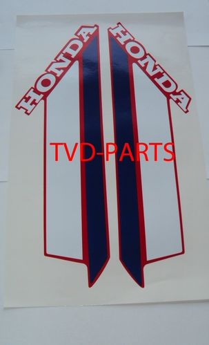 Fuel tank sticker Honda MT 1979-1983 red w/r/b