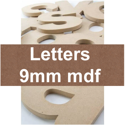 Mdf Letters | 9mm mdf