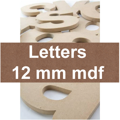 Mdf Letters | 12mm mdf