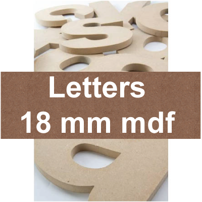 Mdf Letters | 18mm mdf