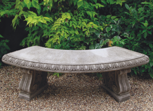 Large Curved Bench